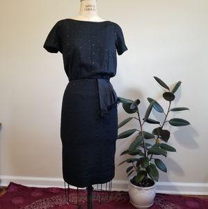 60s Black Dot Dress